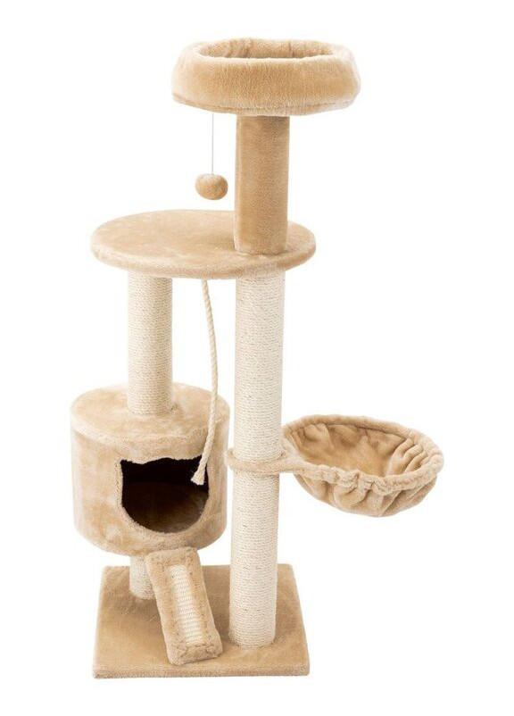Когтеточка для кішок Zoofari 70x115x50 бежево-біла (H1-770386)