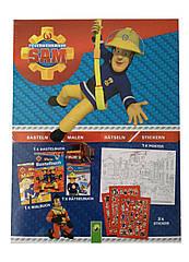 Креативная коробка Lidl Fireman Sam с книжкой-раскраской сборником головоломок постером и наклейками