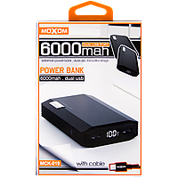 АКБ PowerBank MOXOM MCK-019 (6000 mAh) черный