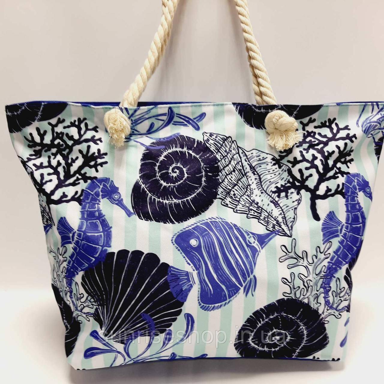 Пляжна сумка Морський Принт