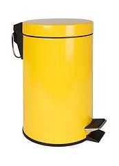 Ведро с педалью Miomare 2.6 л желтый (H1-570520)