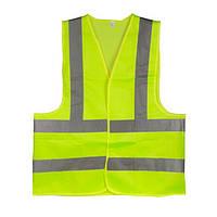 Жилет сигнальный зеленый XXL (62*70см), 120 гр/м2 INTERTOOL SP-2029