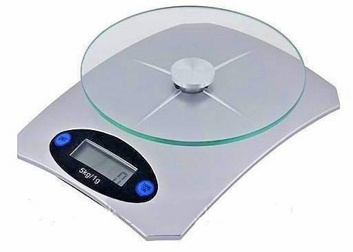 Кухонні ваги Livstar до 5 кг, скляна платформа, фото 2