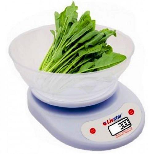 Ваги кухонні круглі з чашею LIVSTAR