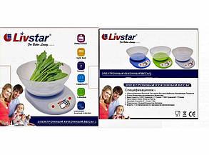 Ваги кухонні круглі з чашею LIVSTAR, фото 2