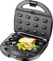 Гриль контактний, горішниця, вафельниця, бутербродниця 4 в 1 Livstar, фото 2