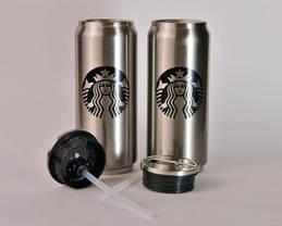 Термос термокружка з трубочкою Vacuum Cup Starbucks 500мл, фото 2