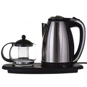 Электрочайник 1,8л + чайник заварник 500мл. на подставке