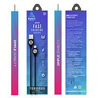 USB cable INAVI Lightning Tighdbraid Series (TB1) черный