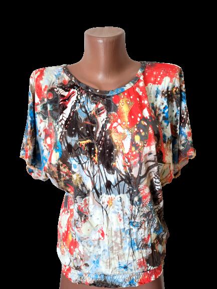 """Блуза футболка женская """"Эрика"""" р.50-52 хлопок стрейч.От 3шт по 49грн"""