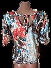 "Блуза футболка женская ""Эрика"" р.50-52 хлопок стрейч.От 3шт по 49грн, фото 4"