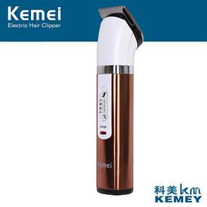 Бритва Kemei Машинка для стрижки волосся і бороди, Триммер для бороди, Бездротова машинка для стрижки, фото 2