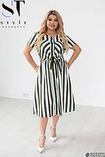 Жіноче плаття літнє лляне великих розмірів, фото 3