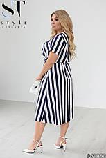 Жіноче плаття літнє лляне великих розмірів, фото 2