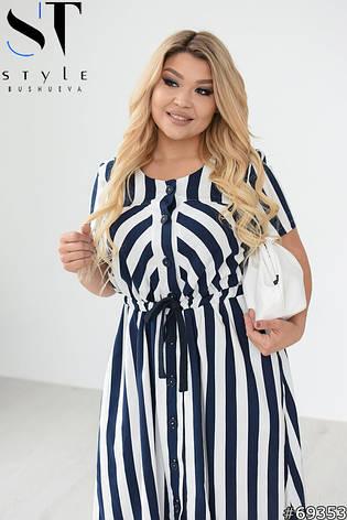 Женское платье летнее льняное больших размеров, фото 2