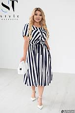 Женское платье летнее льняное больших размеров, фото 3