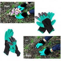 Перчатки садовые с когтями Garden Gloves для сада и огорода, фото 2