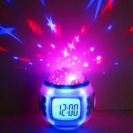 Настільний годинник - проектор Зоряного неба Music and Starry Sky calendar, фото 2