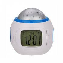 Настільний годинник - проектор Зоряного неба Music and Starry Sky calendar, фото 3