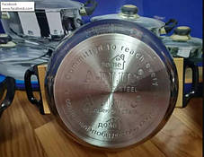 Набор кастрюль с крышками A-PLUS 12 предметов, фото 3