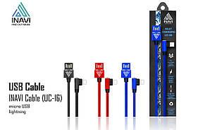 USB cable INAVI Lightning (UC-16) синий