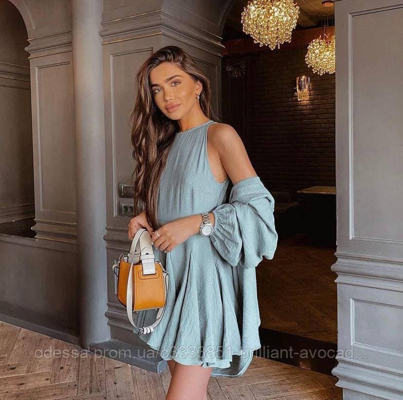 Жіноче літнє ошатне вільне плаття, з вільною сорочкою