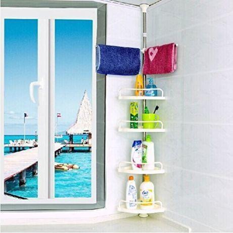 Кутова полиця для ванної кімнати Multi Corner Shelf Стійка Стелаж