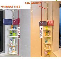 Угловая полка для ванной комнаты Multi Corner Shelf Стойка Стелаж, фото 3