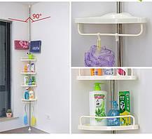 Угловая полка для ванной комнаты Multi Corner Shelf Стойка Стелаж, фото 2