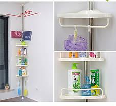 Кутова полиця для ванної кімнати Multi Corner Shelf Стійка Стелаж, фото 3
