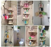 Кутова полиця для ванної кімнати Multi Corner Shelf Стійка Стелаж, фото 2