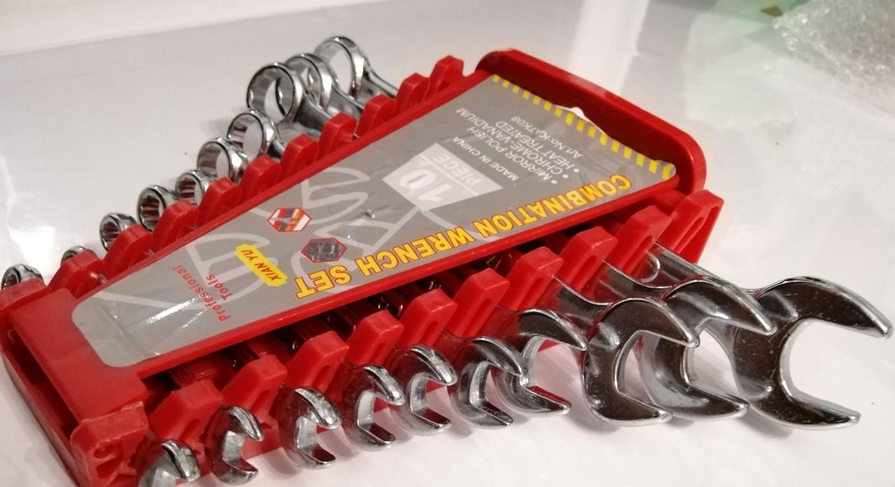 Набір Гайкових Ключів Рожково - Накидних 10 ключів 6-22мм