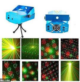 Лазерний проектор Диско Лазер стробоскоп для дому, кафе,бару,