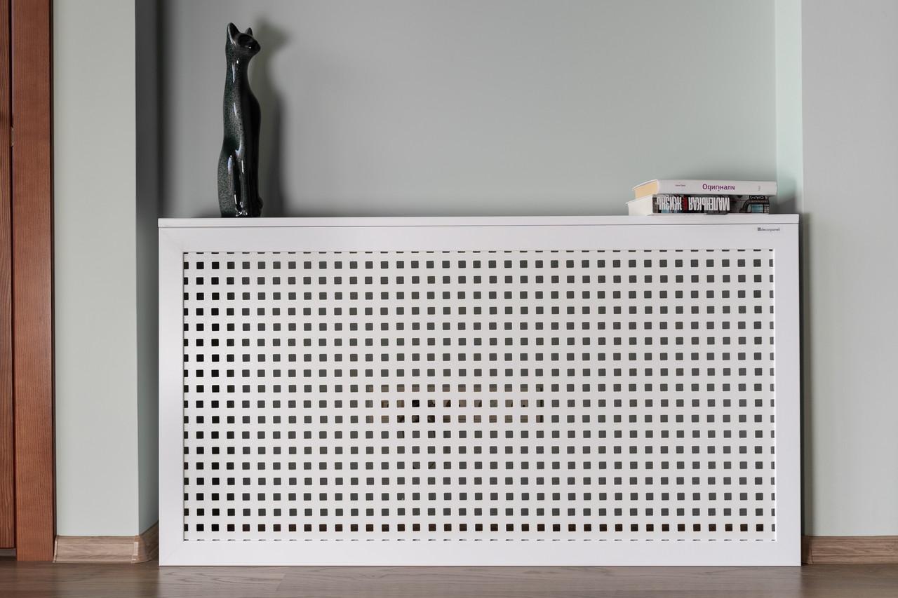 Короб на батарею отопления Decorpaneli дизайн Лофт, цвет белый