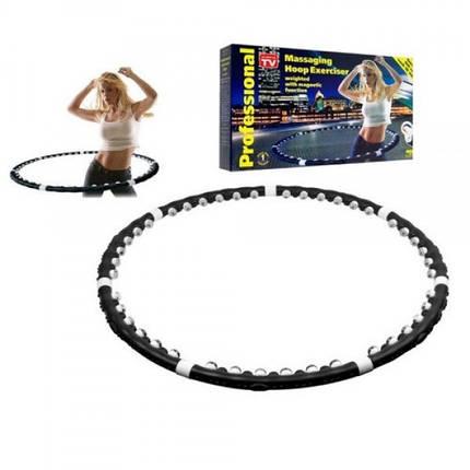 Массажный обруч халахуп Massaging Hoop Exerciser Professional Bradex с магнитами, фото 2