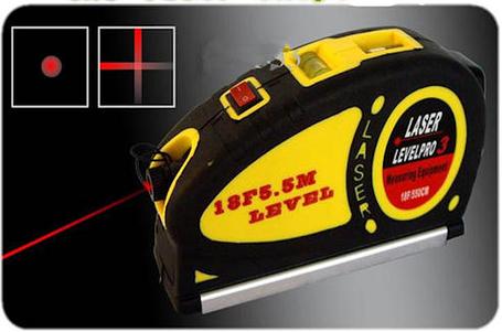 Лазерний рівень Level Pro 3 з рулеткою 5,5 м, фото 2