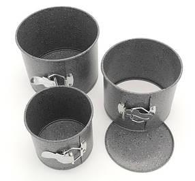 Форми для випічки паски кексів A-PLUS 3шт мармурове покриття