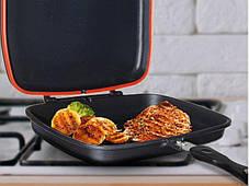 Сковорода двостороння для гриля і смаження A-PLUS 30 см, фото 2