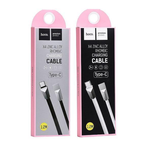 Шнур USB Cable Hoco X4 Zinc Alloy Rhombic Type-C 1.2m