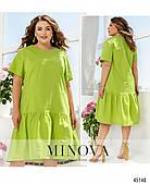 Салатовое летнее платье из льна