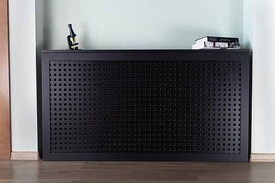 Короб на батарею отопления Decorpaneli дизайн Лофт, цвет черный