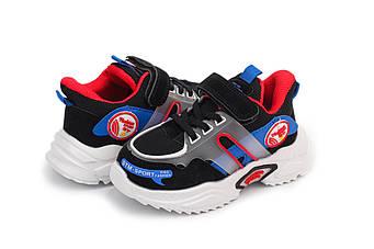 Кросівки Мышонок, Черный с красным, 31, 18,5см