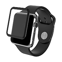 Защитное стекло для Apple Watch 3 series 3D FullGlue 42 mm черный