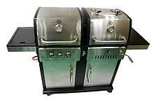 Гриль комбо 2 в 1 приготування їжі на вугільному і газовому грилі з нержавіючої сталі ТМ GRILLI 77769