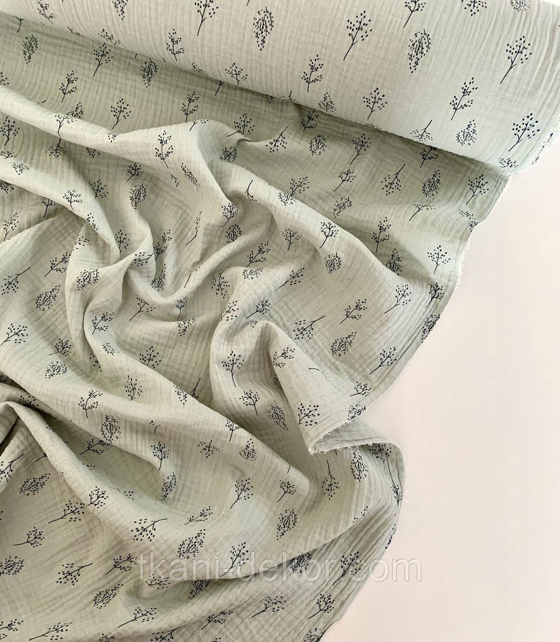 Муслін (бавовняна тканина) гілочки на оливці