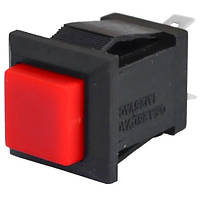 Кнопка квадратная PBS-15C без фиксации ON-(OFF), 2pin, 1А, 250V, красная