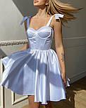 Атласне плаття з розкльошеною спідницею, корсетом і чашками пуш ап (р. S, M) 66032558Q, фото 2