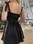 Атласне плаття з розкльошеною спідницею, корсетом і чашками пуш ап (р. S, M) 66032558Q, фото 9