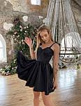 Атласне плаття з розкльошеною спідницею, корсетом і чашками пуш ап (р. S, M) 66032558Q, фото 7