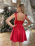 Атласне плаття з розкльошеною спідницею, корсетом і чашками пуш ап (р. S, M) 66032558Q, фото 10
